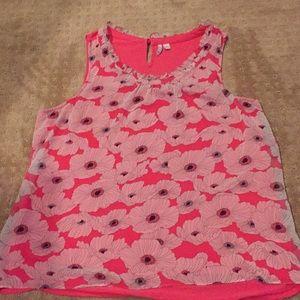 Women's Elle XL floral blouse tank top